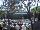 [Stage and crowd at the concert in the park]