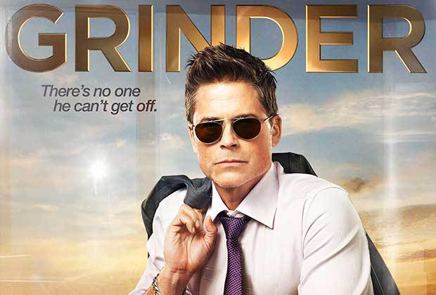 [Promo poster for a TV show with the tag line Grinder: There's no one he can't get off]